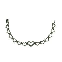 Marcasite Bracelet 14X18mm Open Heart Ctr 6 Pc 10X12 Open Hea