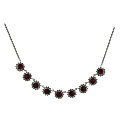 Marcasite Necklace Sunflower Carnelian 9 Sets 16""