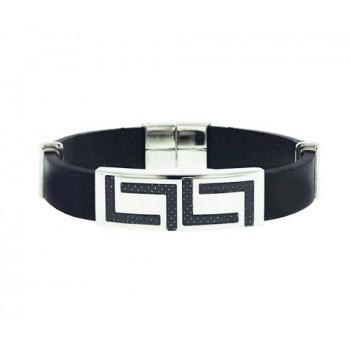 "Stainless Steel Bracelet Optic ""L"" Shapes"
