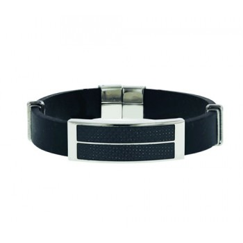 Stainless Steel Braclet Steel W/2 Optic Strip