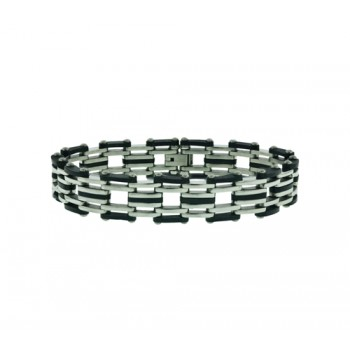 Stainless Steel Bracelet Thick Flat Bean Parts