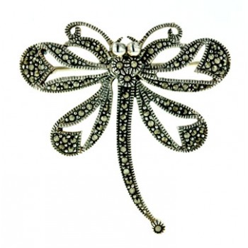 Marcasite Pin Open Dragonfly