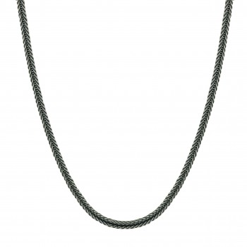 Sterling Silver Necklace 18 In. Foxtail