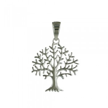 Brass Pendant Plain Tree W/ Bail