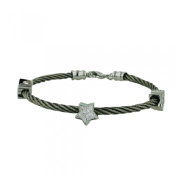 Brlt Stainless Steel + Metal Rope W/Star*3 Cl Cz